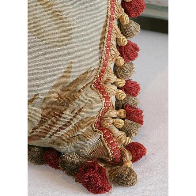 Antique Aubusson Pillow For Sale - Image 4 of 6