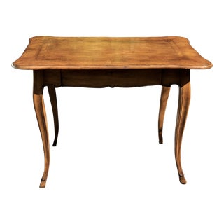 Antique Italian Marquetry Inlaid Single Drawer Work Table For Sale