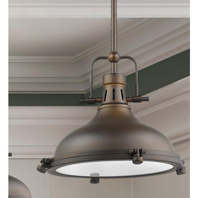 Metal Warehouse 1 Light Pendant, Oiled Bronze For Sale - Image 7 of 10