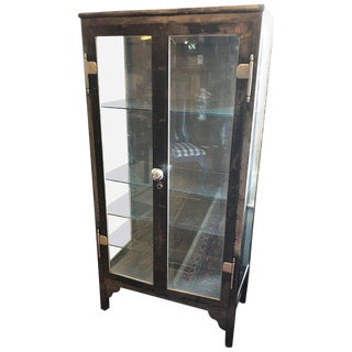 Vintage Steel and Glass Medicine Cabinet
