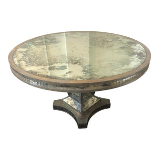 1990s Niermann Weeks Mirrored Dining Table For Sale