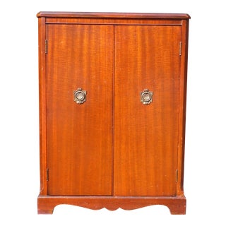 1940's Vintage Mahogany Federal style Media Unit Storage Cabinet Petite Server