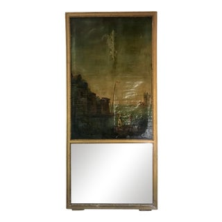Classic French Trumeau Mirror For Sale
