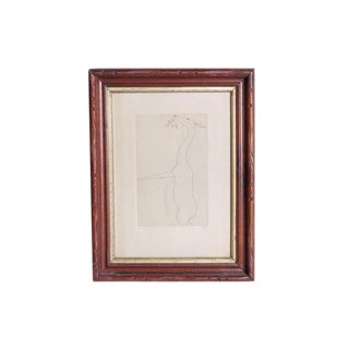 Etching of a Deer by Beth Van Hoesen (1926-2010) California For Sale