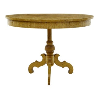 19th Century Swedish Burr Birch Oval Occasional Table For Sale