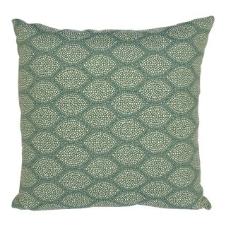 """Cowry Shell"" - Celadon - Performance 18"" Decorative Pillow"