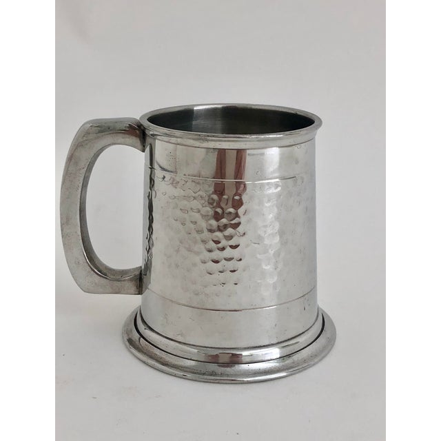 English Queen Elizabeth Comemorative Pewter Mug For Sale - Image 3 of 6