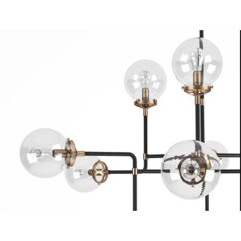 Please read, this was a custom light order from Circa Lighting. Selling an Ian K. Fowler Bistro 12 Light 47 inch Hand-...