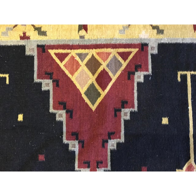 "Vintage Indian Dhurrie Kilim Rug - 8' x 10'2"" - Image 3 of 11"