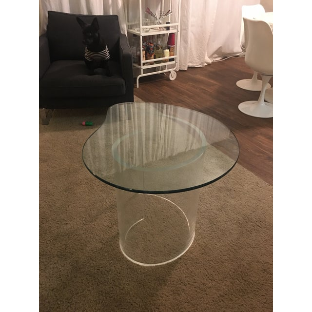 Mid 20th Century Vintage Modern Lucite Spiral Side Table For Sale - Image 5 of 6