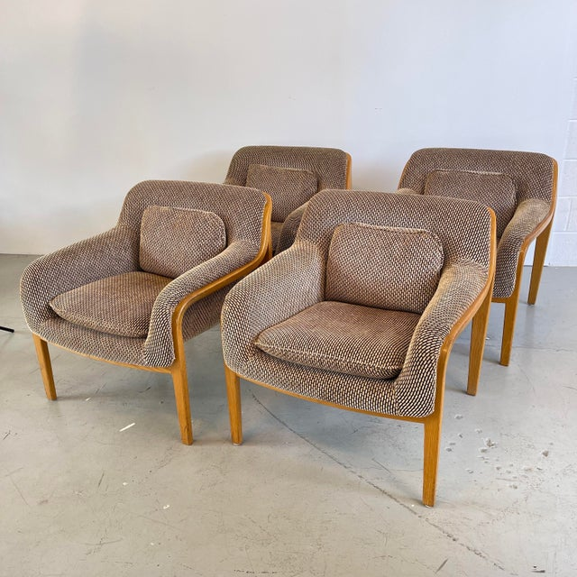 1970s Bill Stephens for Knoll Lounge Chairs - Set of 4 For Sale - Image 10 of 10