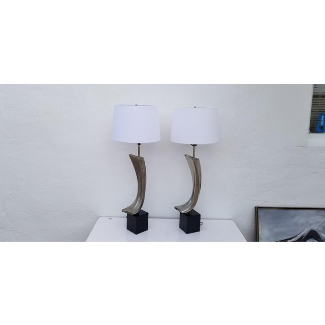 Mid-Century Modern 1960s Maurizio Tempestini for Laurel Sculptural Table Lamps - a Pair For Sale - Image 3 of 13