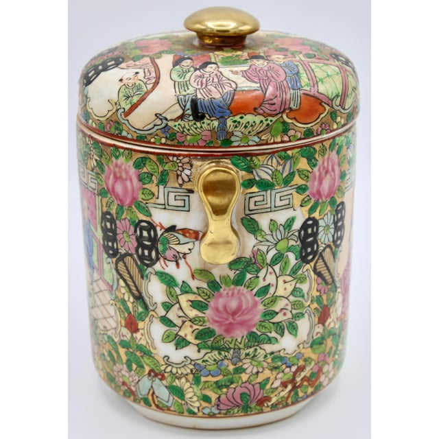 18th Century 18th Century Chinese Rose Medallion Porcelain Lidded Jar For Sale - Image 5 of 12