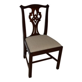 Chippendale Henkel Harris Mahogany Side Chair For Sale