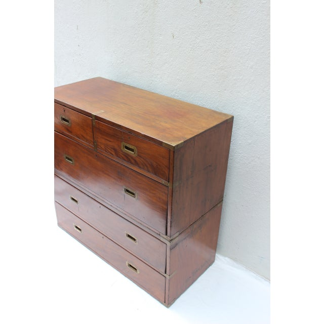 19th Century English Campaign Chest For Sale - Image 4 of 13