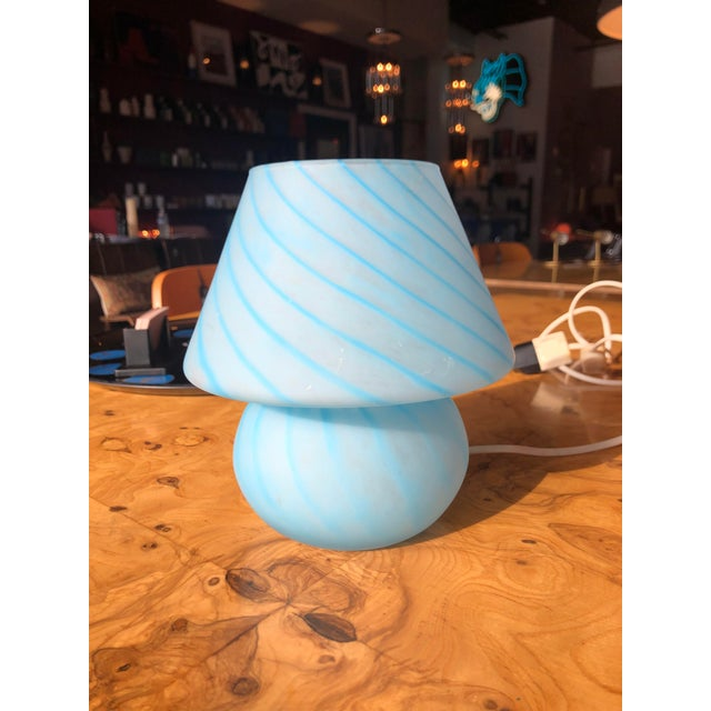 1970s Vetri Venini Murano Glass Mushroom Lamp For Sale - Image 10 of 10