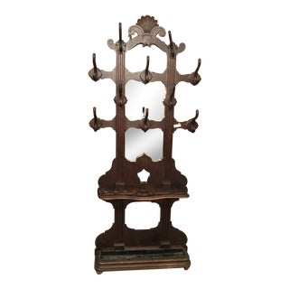 Antique Coat Hall Rack From Belgium For Sale
