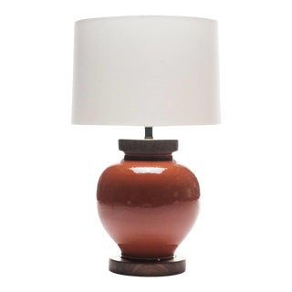 Lawrence & Scott Luca Porcelain Lamp in Living Coral For Sale