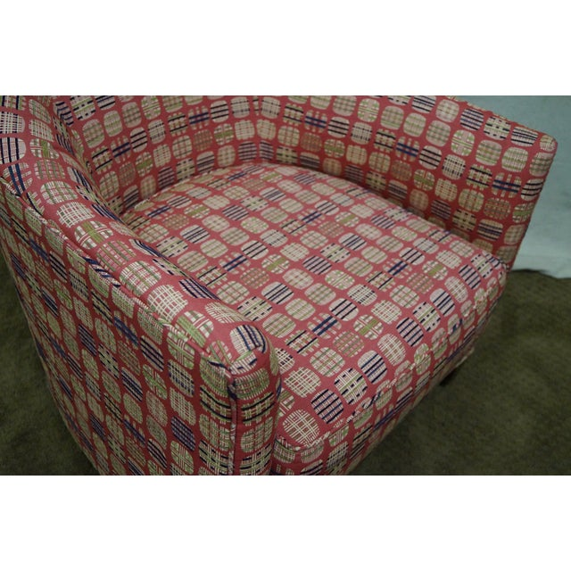Newerly Upholstered Barrel Back Lounge Chair For Sale In Philadelphia - Image 6 of 10