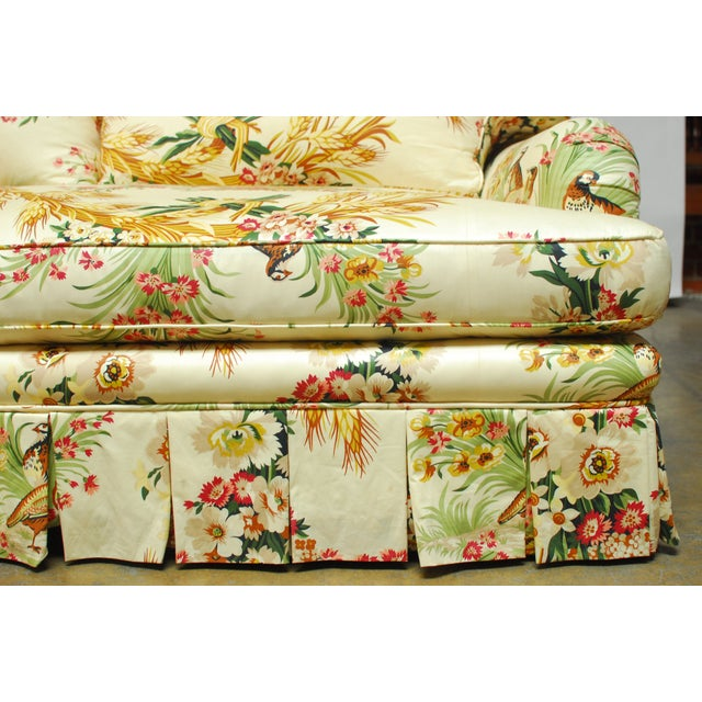 Yellow Brunschwig & Fils French Upholstered Toile Sofa For Sale - Image 8 of 10