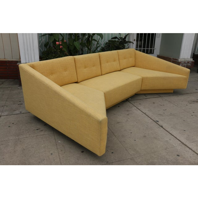 Yellow Sectional Sofa For Sale - Image 10 of 11