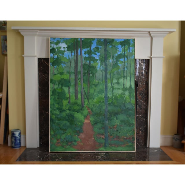 "Large Painting ""At the Edge of the Woods"" by Stephen Remick For Sale - Image 12 of 13"