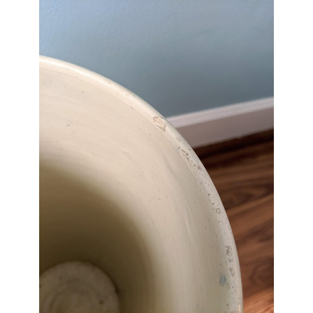 Ceramic 20th Century Floral Blue and Pink Ceramic Umbrella Stand For Sale - Image 7 of 11