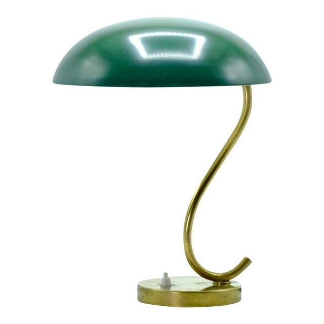 Mid-Century Scandinavian Green With S Curve Desk Lamp For Sale In New York - Image 6 of 6