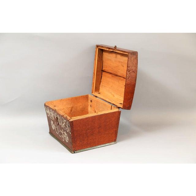 Antique Upsala Swedish Marriage Trunk / Box - Image 3 of 7