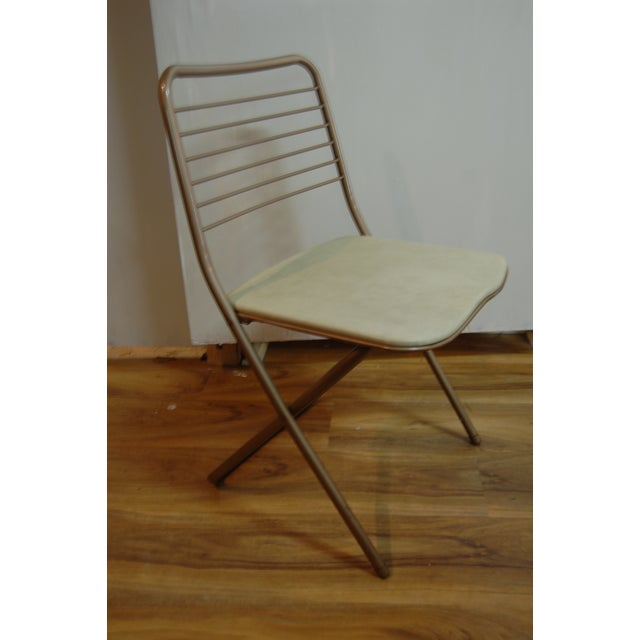Vintage Stylaire Metal Folding Chairs - 4 For Sale - Image 4 of 9