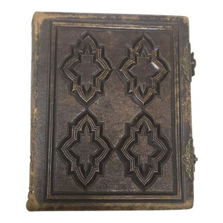 Antique Leather Civil War Era Photo Album by Roberts Brothers of Boston