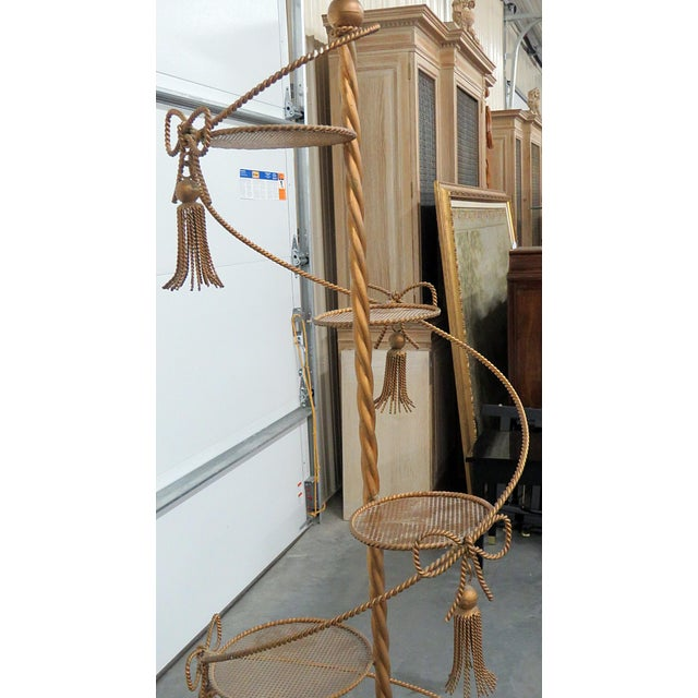 Hollywood Regency Style Gilt Plant Stand For Sale - Image 9 of 10