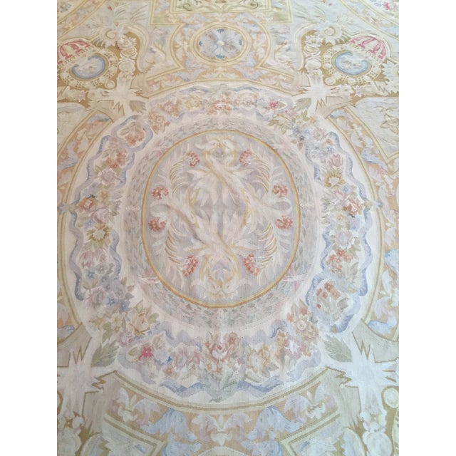 Aubusson French Wool Rug - 9′9″ × 14′2″ - Image 8 of 11