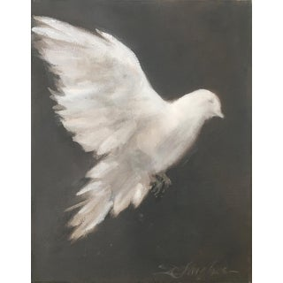 """White Dove, No.2"" Original Painting by Donna Hughes For Sale"