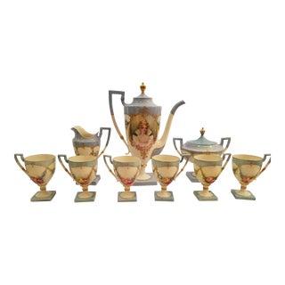 1908 Lenox Belleek Art Nouveau Porcelain Coffee Set For Sale