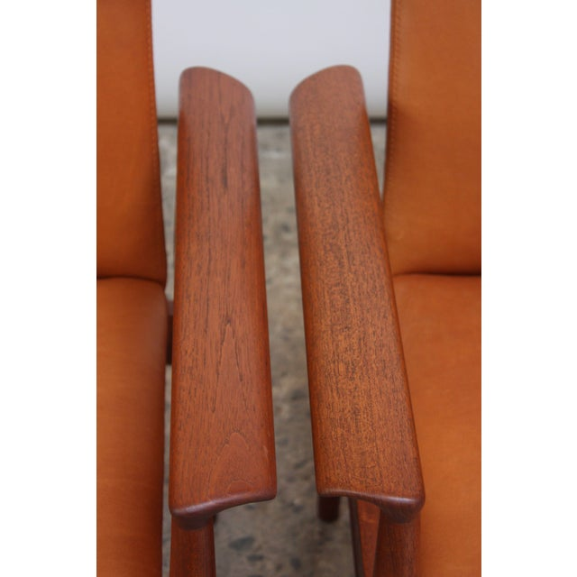 Pair of Finn Juhl Diplomat Armchairs for France & Son in Leather and Teak For Sale - Image 11 of 13