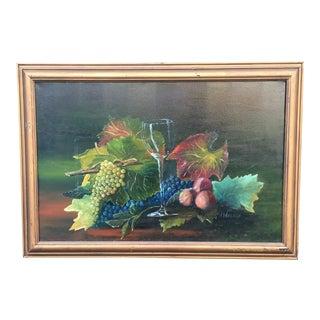 Original Still Life Oil Painting - H. Wegele For Sale