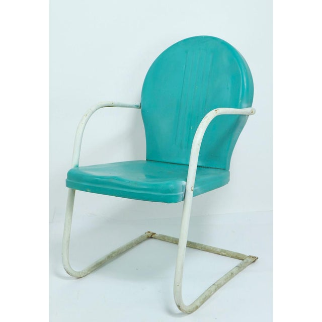 Mid-Century Modern Mid Century Metal Lawn Garden Patio Chairs by Shott - a Pair For Sale - Image 3 of 13