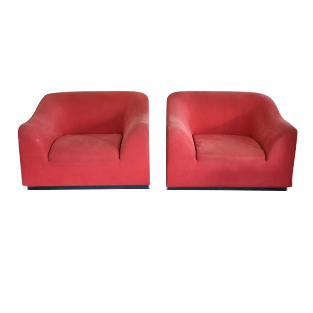 Late 20th Century Eric Jourdan for Ligne Roset Snowdonia Upholstered Armchairs - a Pair For Sale