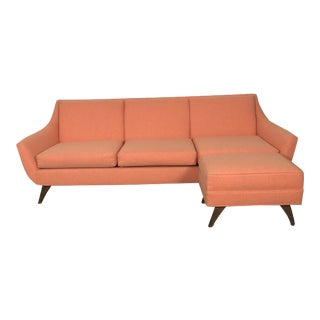 Kroehler Style Danish Modern Sofa & Ottoman For Sale