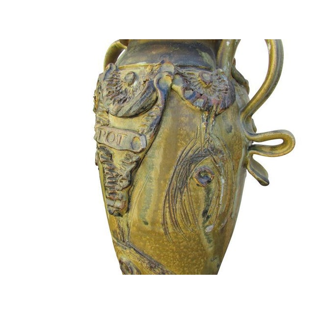 "Mid-Century Ceramic ""Pot"" Vase For Sale In Seattle - Image 6 of 9"