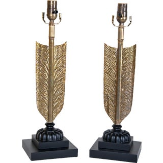 Early 20th Century Large Arrow Lamps - a Pair For Sale