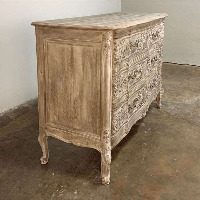 French Antique Country French Whitewashed Oak Commode For Sale - Image 3 of 13