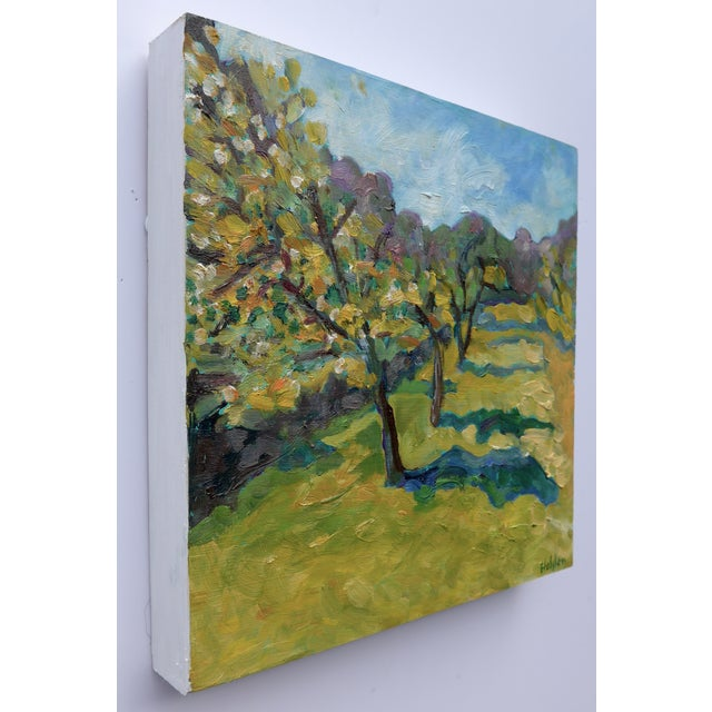 French Orchard in the Spring Plein Air Painting - Image 5 of 7