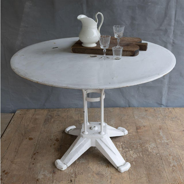 Vintage Cast Iron Bistro Table - Image 5 of 7