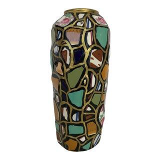 Vintage Studio Art Mosaic Vase For Sale