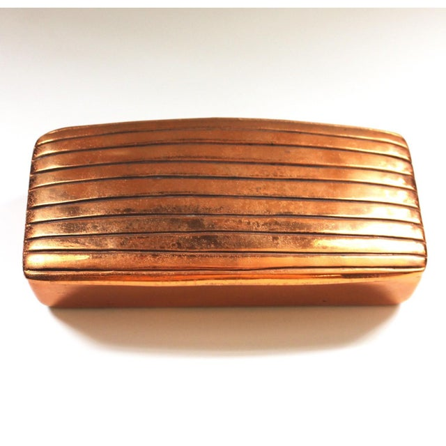 Vintage Ben Seibel for Jenfred-Ware Copper Table Box - Image 3 of 6
