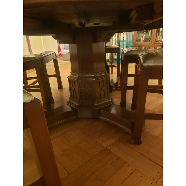 Victorian Antique John D. Raab Chair Co. Dining Room Set - Set of 7 For Sale - Image 3 of 7