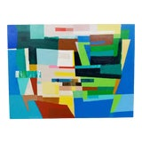 "Image of Michael Costantini Contemporary Abstract Painting ""The United States of America"" For Sale"