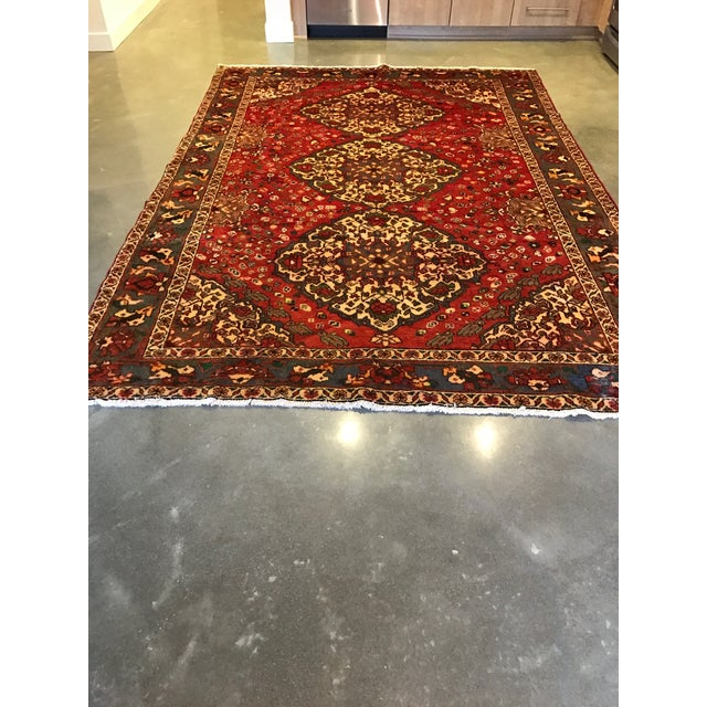 Large Hand Knotted Persian Rug - 6'11x10'0 - Image 10 of 11